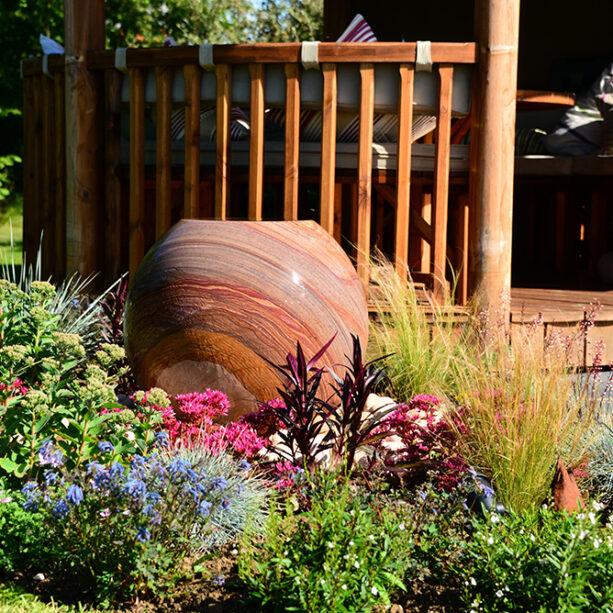 sandstone garden water feature