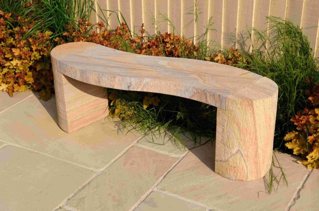 Foras Jasper Curved Rainbow Sandstone Bench