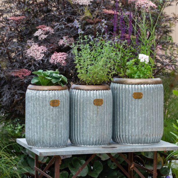 wootton vintage zinc planter