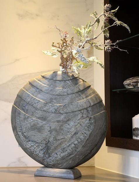 Foras Caviara Slate Vase & Sculpture