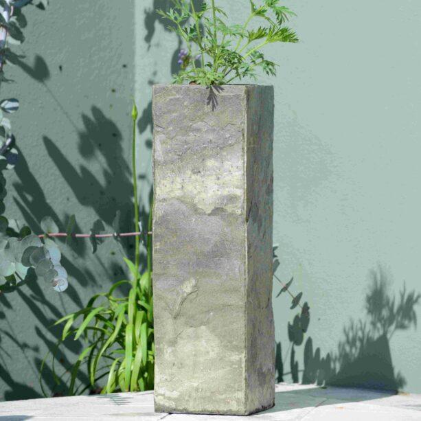 Surmi 50cm Square Natural Slate Vase / Planter