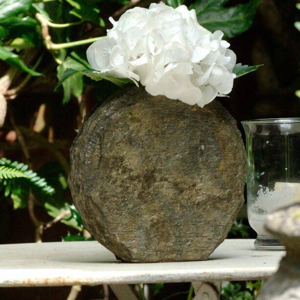 Natural slate basa vase 20cm