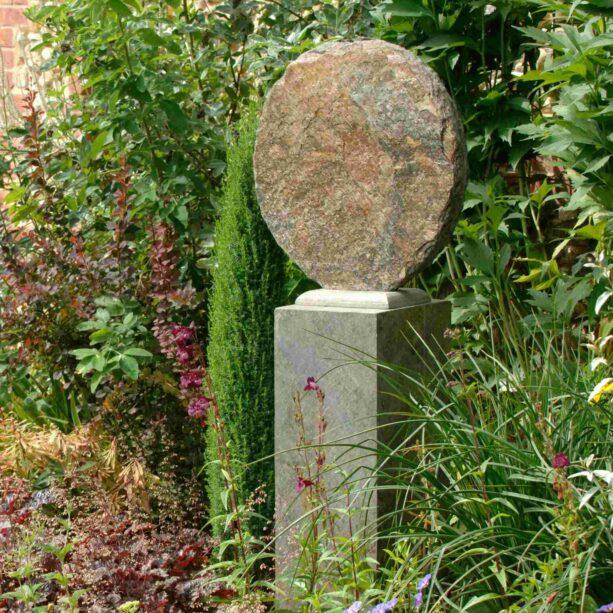Basa 50 Natural Slate Sculpture on Surmi Plinth