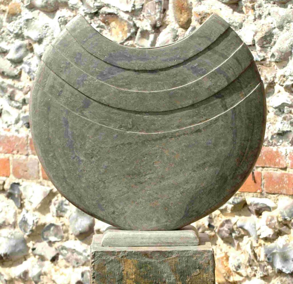 Ikra 50 Natural Slate Sculpture on Surmi Plinth