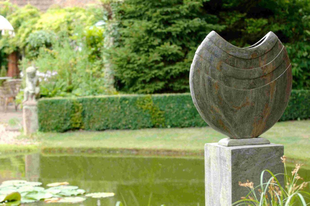 Ikra 60 Natural Slate Sculpture on Surmi Plinth