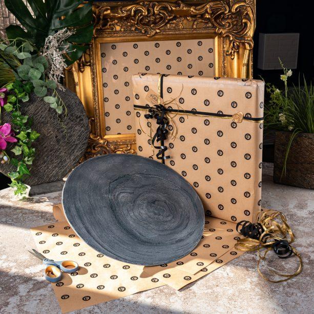 Gift Wrapped Slate Bowl