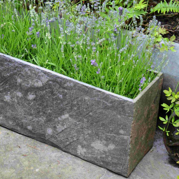 Surmi Medium Natural Slate Trough - Set Of Two