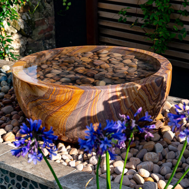 Pure Water Bowl Rainbow Sandstone