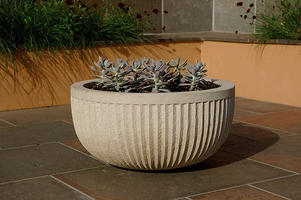 Large handcrafted sculpture planter