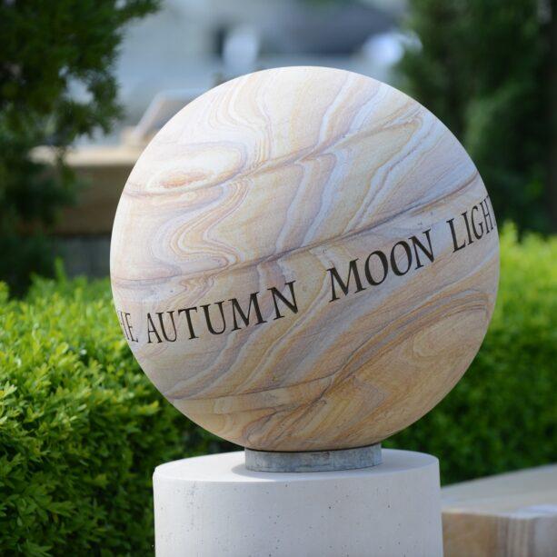 Lettered Rainbow Sandstone Sphere