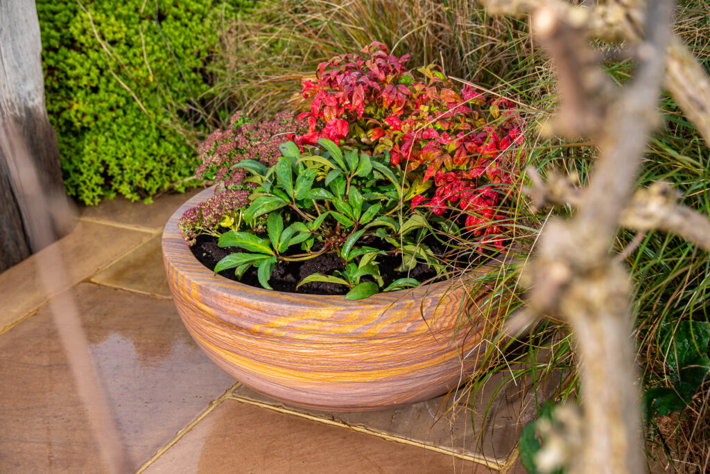 Pure rainbow sandstone Planter