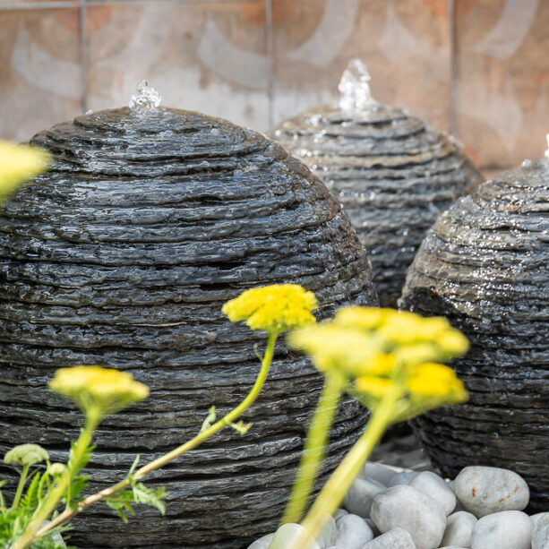 Layered Slate Trio water feature