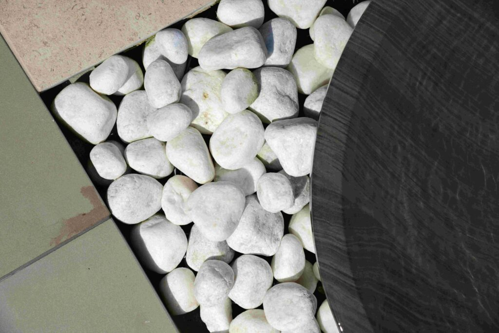 White stone pebbles