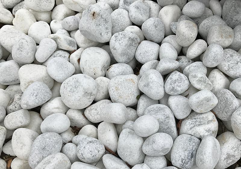 white quartzite pebbles
