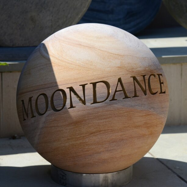 Engraved 40cm Philosophy Sphere - Moondance