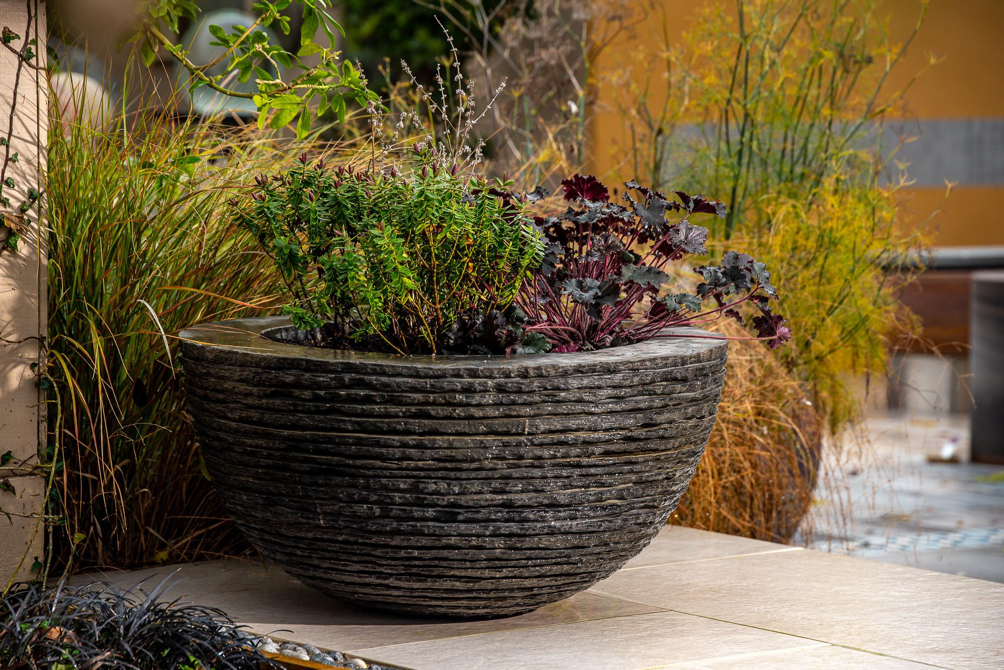 Pure layered slate Planter