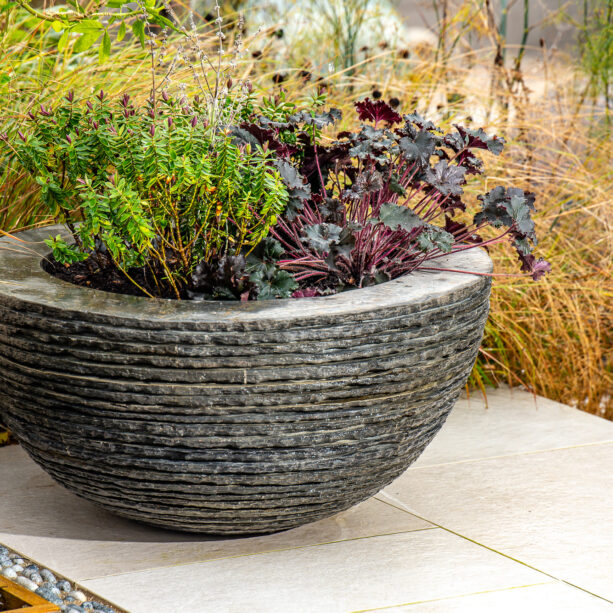 Pure layered slate Planter