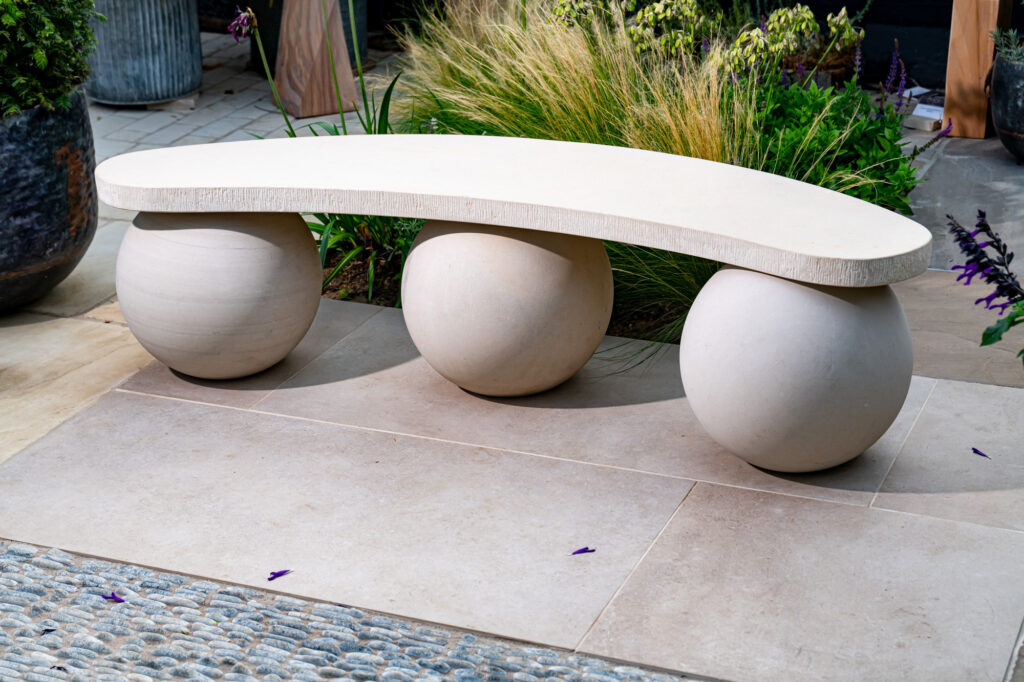 Optical Sandstone Bench