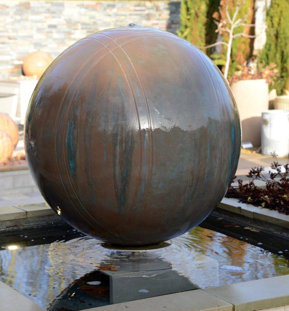 Copper Boule 75cm Pebble Pool Water Feature Kit