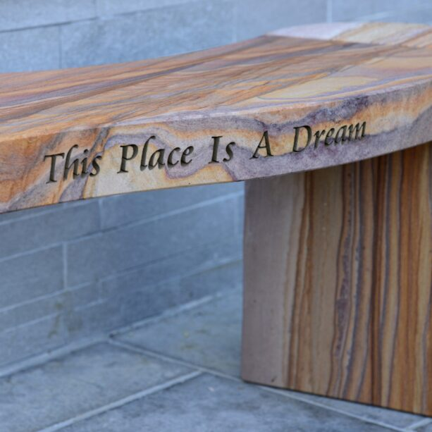 Jasper Rainbow Sandstone Philosophy Bench