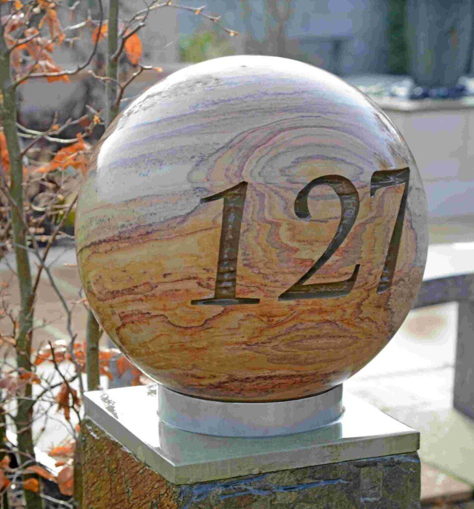 Personalised 40cm Rainbow Sandstone Sphere