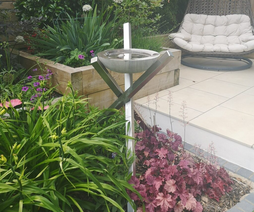 Acorn Matrix Sculptural Bird Bath