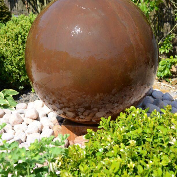 Corten water feature brown