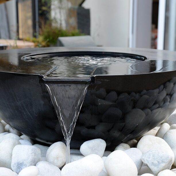 Mortar Noire 70cm Pebble Pool Water Sculpture Kit