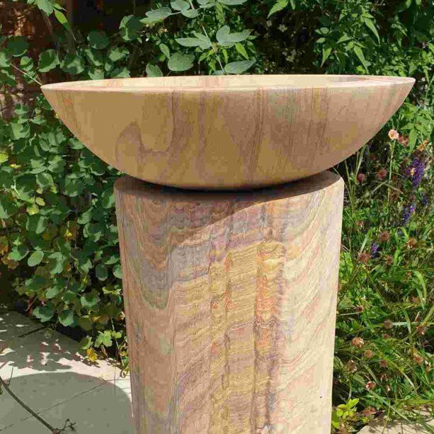 Acorn Birdbath Rainbow Sandstone