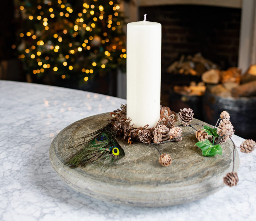 festive candle arrangement