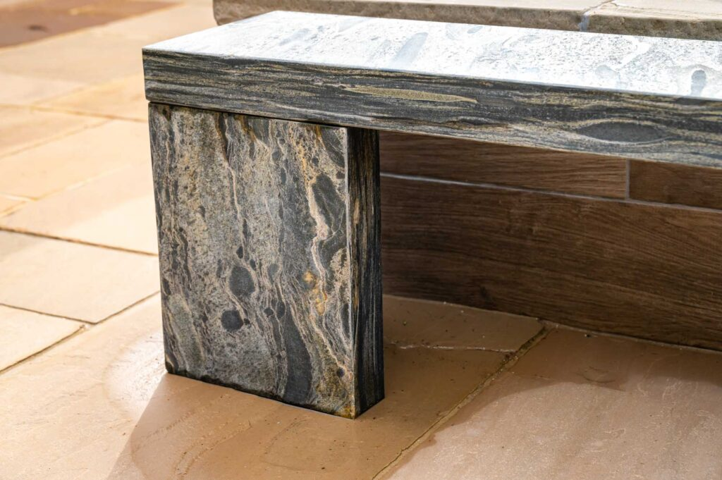 Cubism Pewter bench