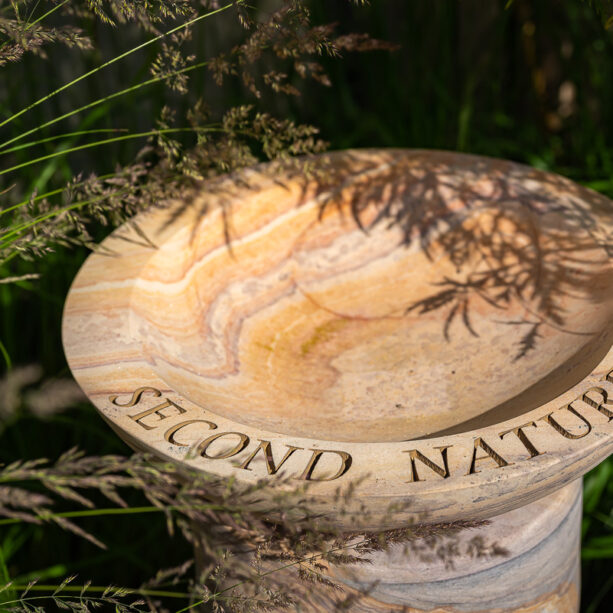 Bespoke Acorn Rainbow bird bath