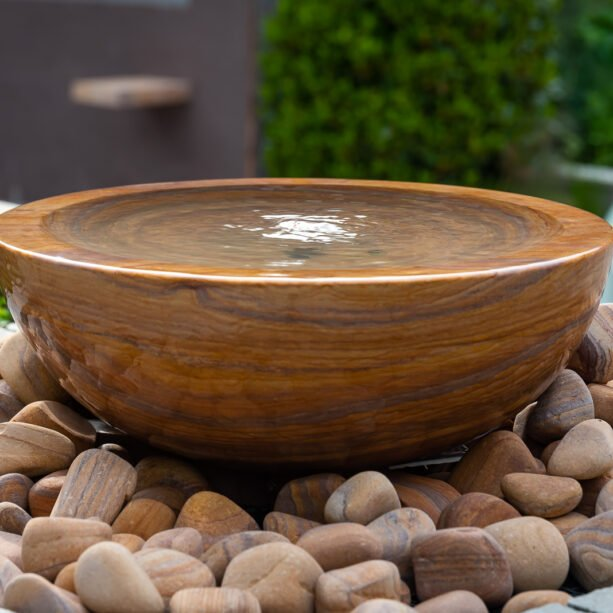 stone water feature bowl
