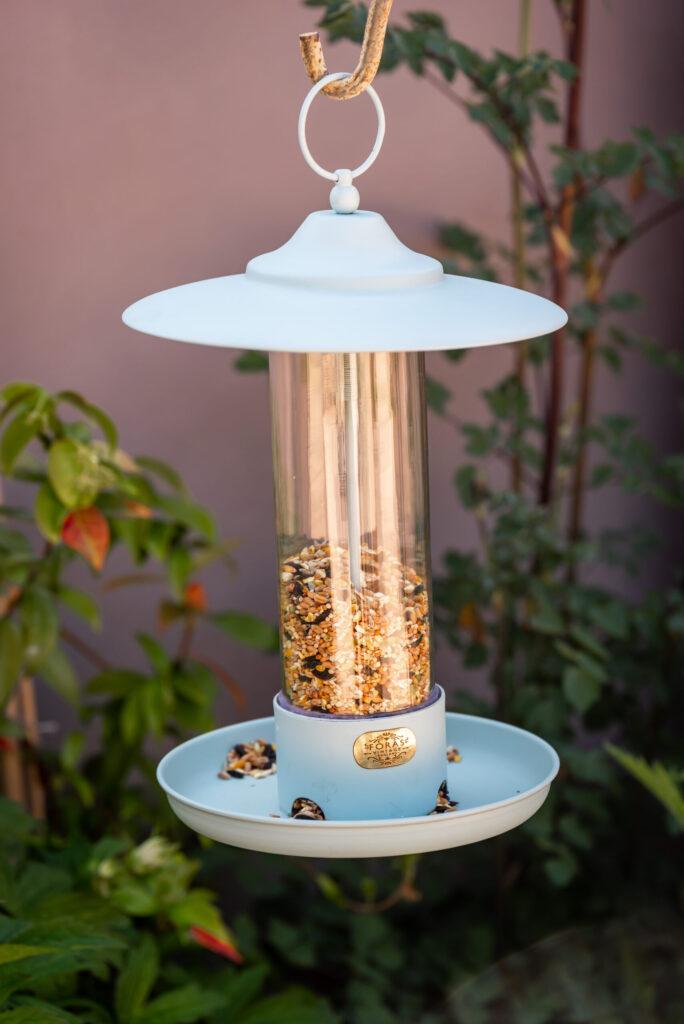 Larch bird feeder