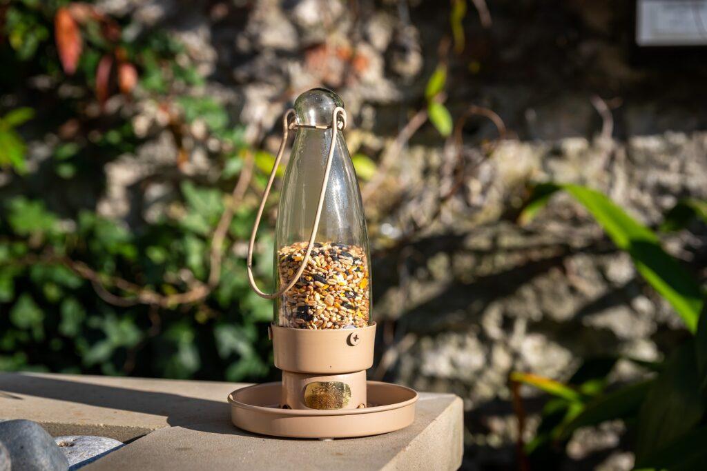 aspen desert pink bird feeder