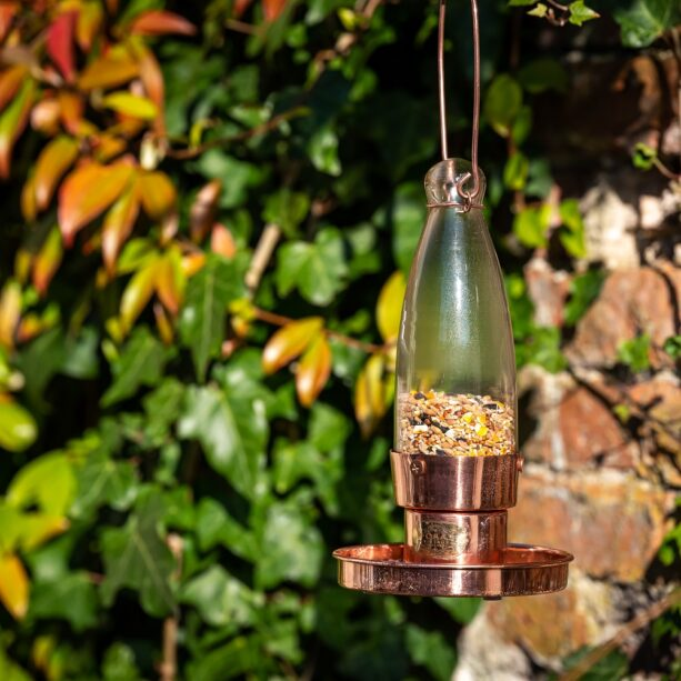 aspen genuine copper bird feeder