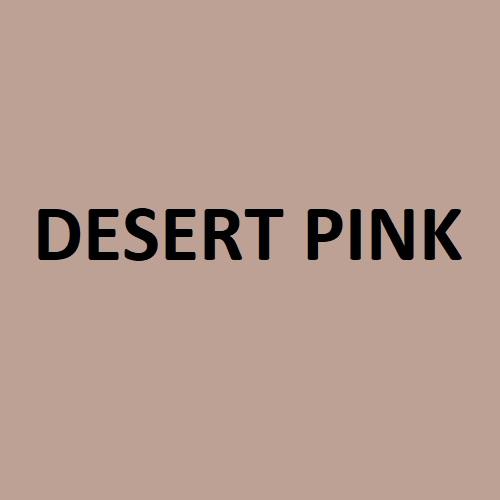 desert pink colour swatch