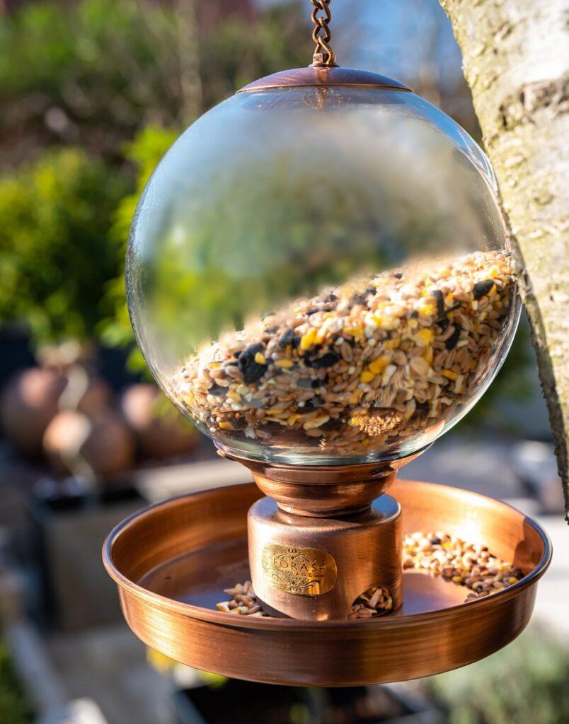 douglas copper bird feeder