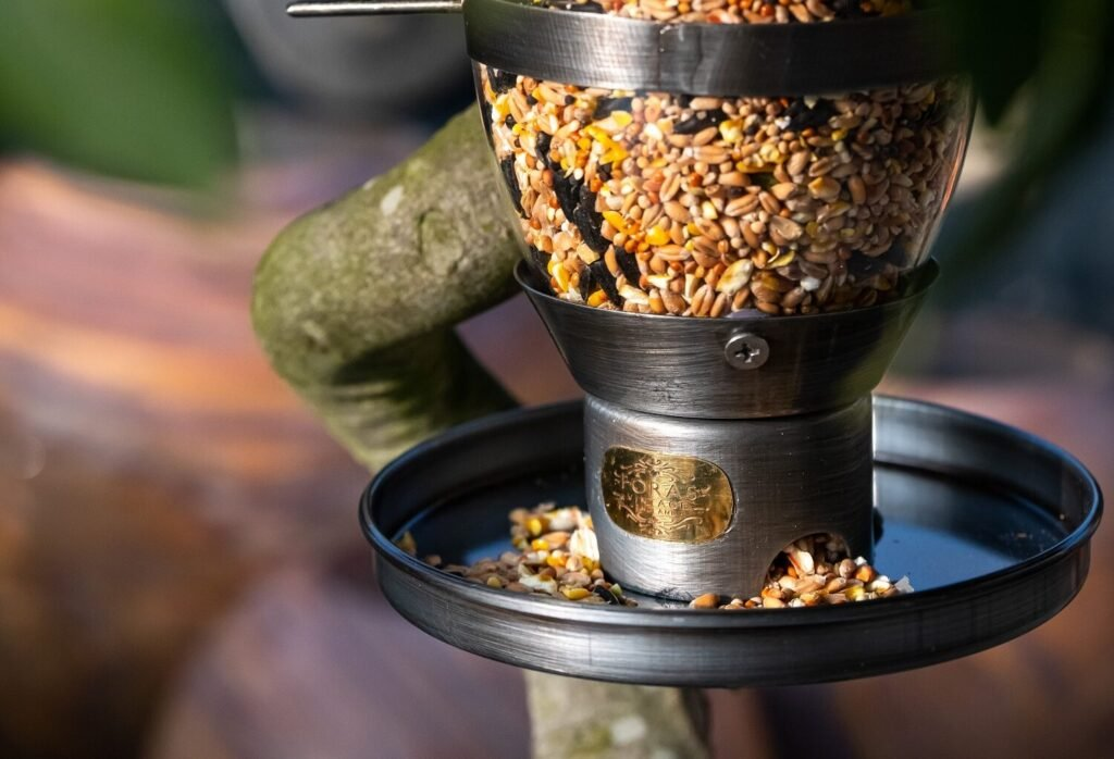 hazel sterling bird feeder