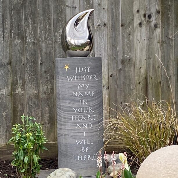personalised stone plinth