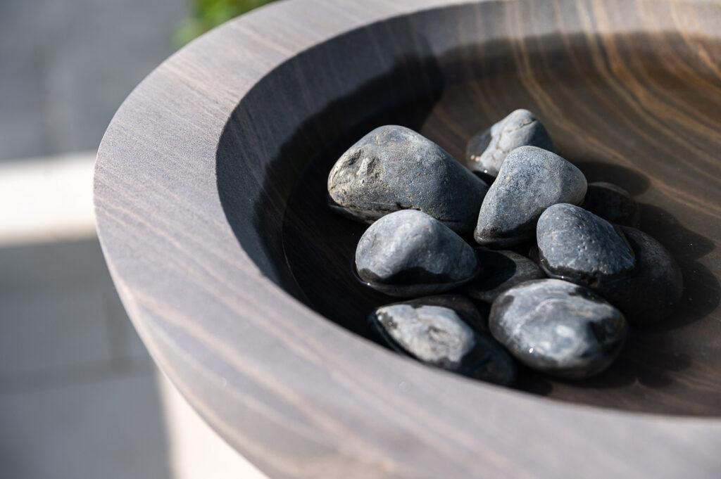 Shark Acorn Bowl with Black Pebbles