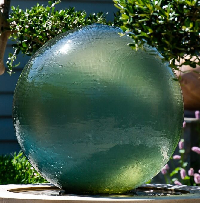 Athena glass garden water feature