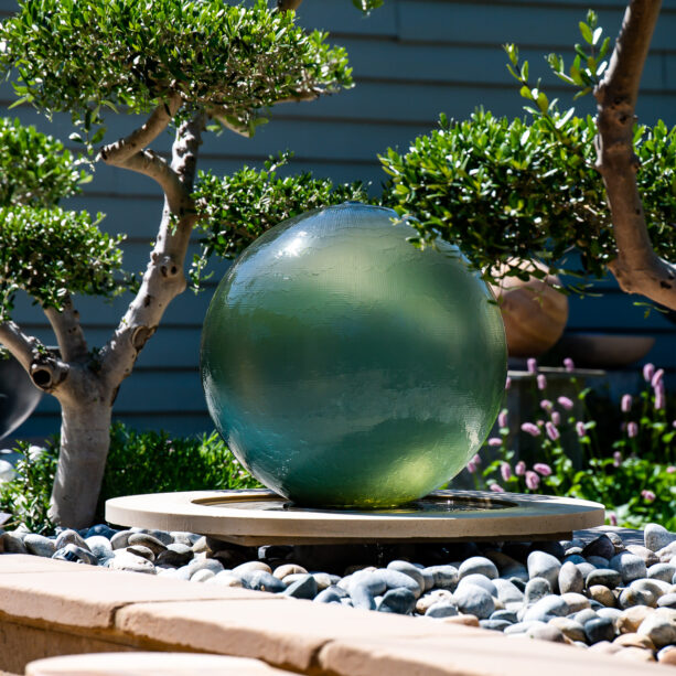 Athena Solstice glass garden water feature
