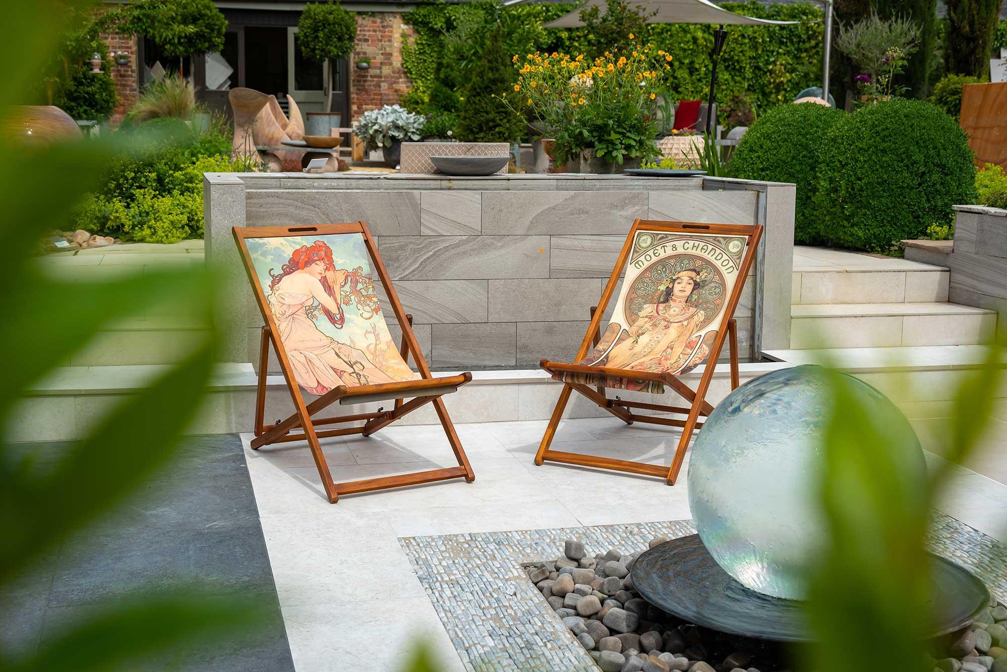 pair of deckchairs