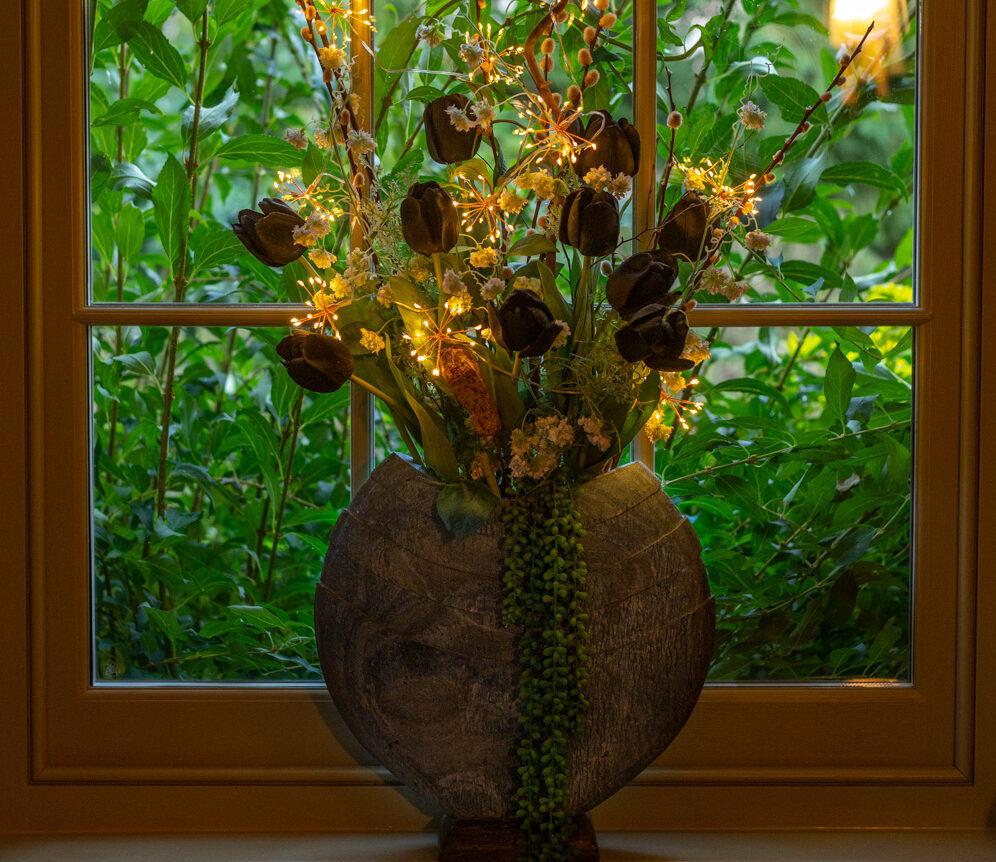 stone vase planter