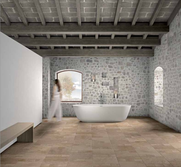 Rustique Darkstone Italian Porcelain Tile