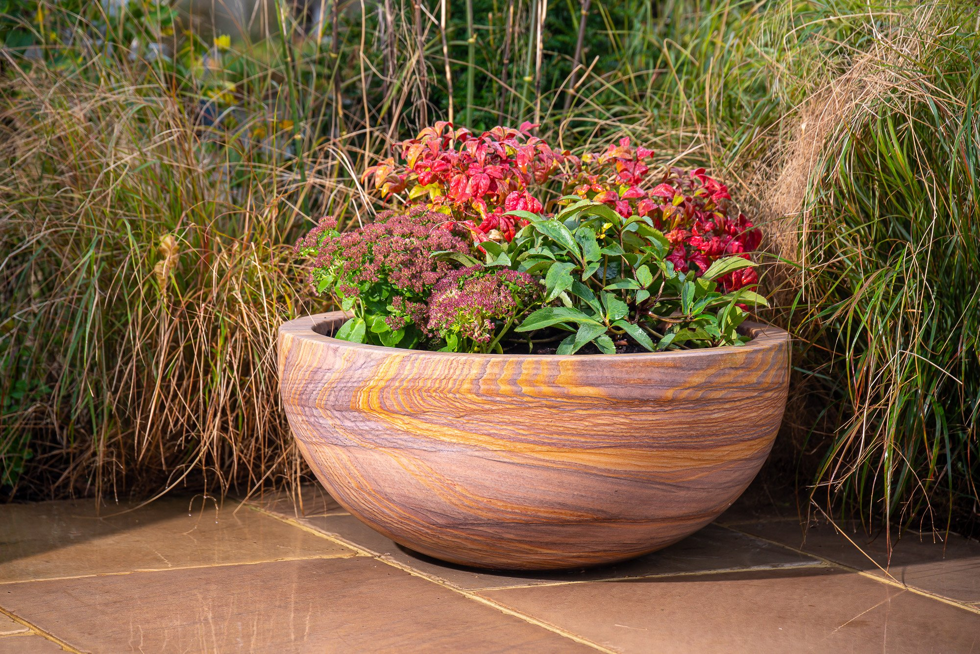 Pure Rainbow Sandstone Planters