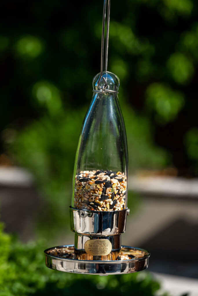 Aspen Sterling bird feeder