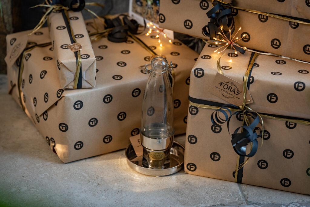 Gift Wrapped Bird feeder