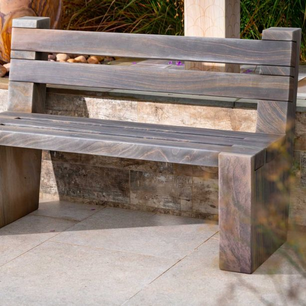 Morgan Shark Bench with Back